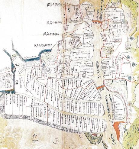木場八家東山古地図